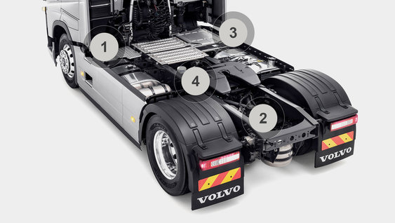 Volvo FH tractor chassis