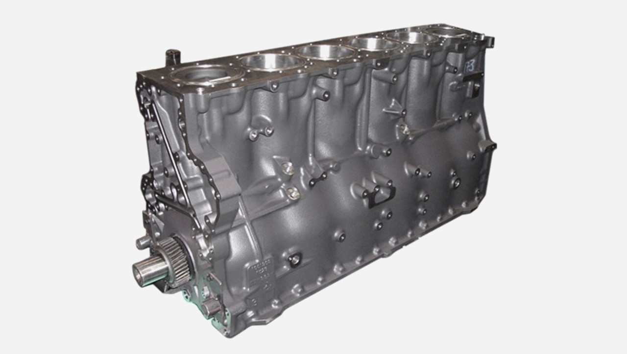 Complete engine block
